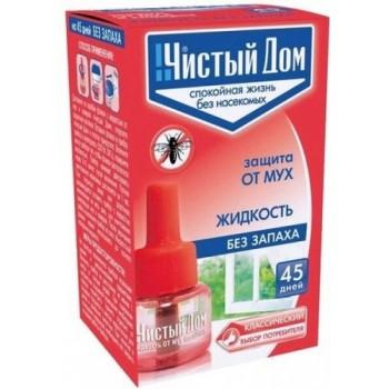 """флакон-жидкость от мух и комаров """"Чистый дом"""", без запаха, 45 дней"""